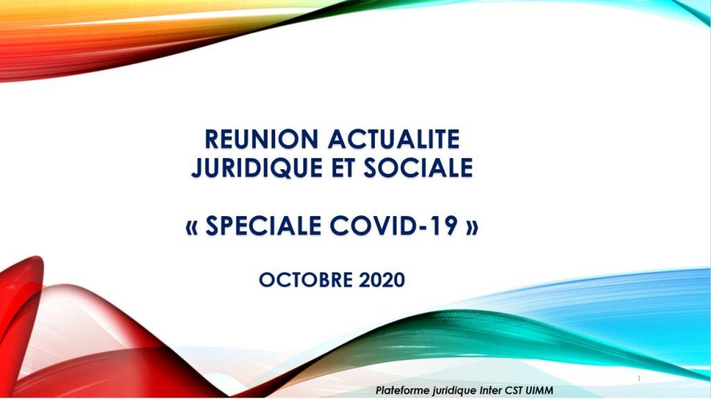Réunion d'actualité spéciale COVID-19 - 21/10/2020